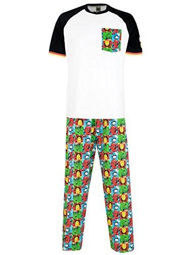 Comics pijama para hombre avengers large