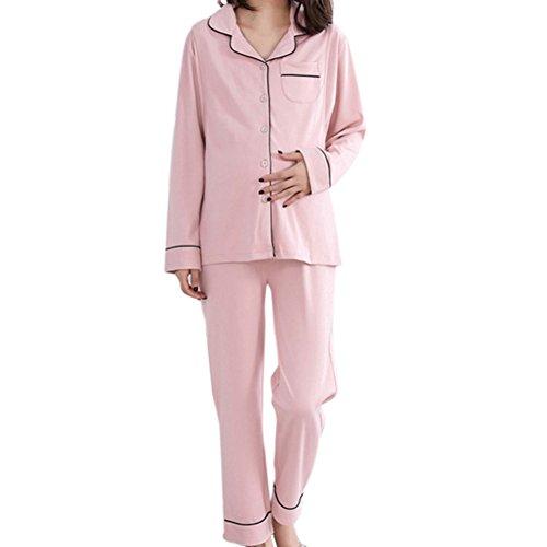 2 piezas de pijamas para mujer premamá ropa de lactancia y maternidad pijamas otoño e invierno