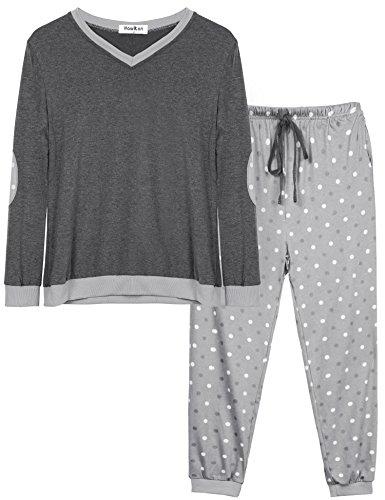 Pijama mujer verano largo algodon otoño invierno pantalones camisetas mangas largas