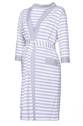 Happy mama para mujer pijama premamá embarazo lactancia estampado de rayas