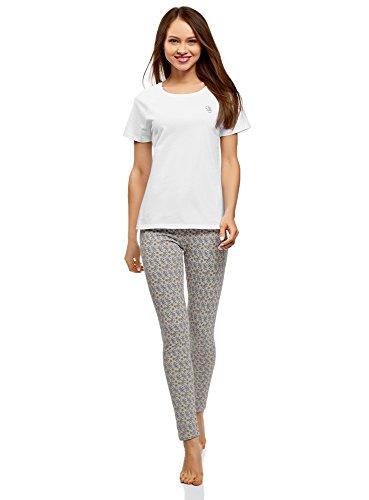 Mujer pijama de algodón con mallas