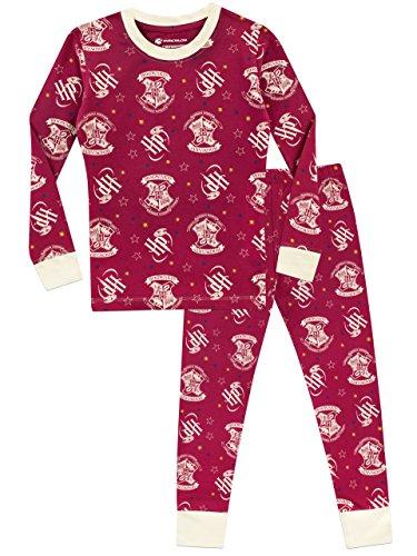 Pijama para niñas hogwarts ajuste ceñido multicolor 11-12 años