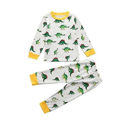 Yanhoo conjunto de ropa para niños dinosaurio de dibujos animados para niños top