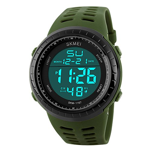 Reloj deportivo de pulsera resistente al agua digital led alarma calendario reloj para hombre mujer