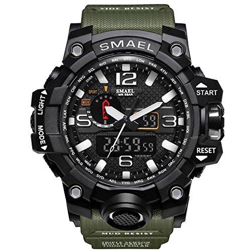 Hombre reloj deportivo militar reloj smart moda reloj de pulsera reloj pulsera digital led