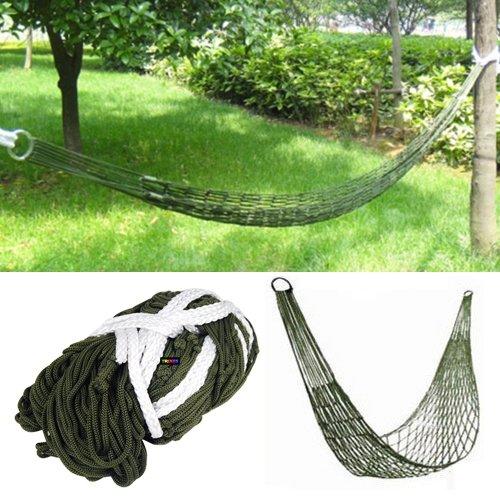 Hamaca militar pequeña de nylon para dormir o relajarse en un camping