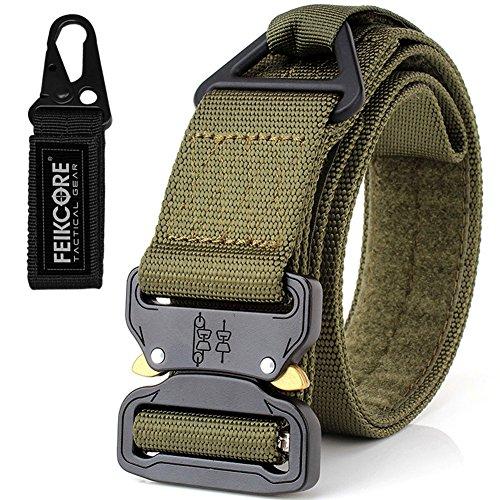 Cinturón táctico cinturón de servicio pesado cinturones de nylon ajustable de estilo militar con hebilla de metal sistema molle 1.75 «cinturones al aire libre