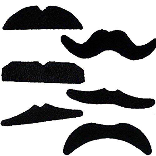 Set de 12 bigotes autoadhesivos para disfraz