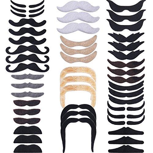 48 piezas de bigotes postizos