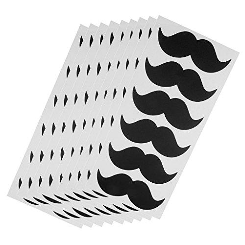 9 x 6 pcs nube pizzarón etiqueta adhesiva tarro de cocina calcomanía bricolaje arte artesanía bigote clarión