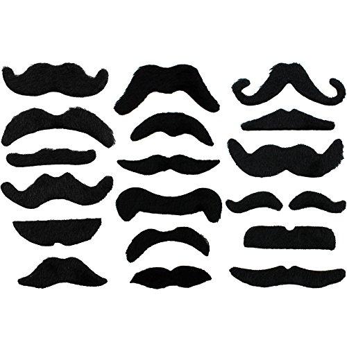 24 x divertido hilo barba bigotes postizos