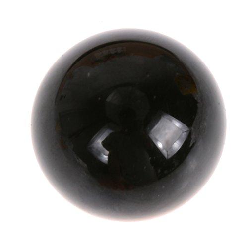 Bola de cristal de cuarzo de jade negro natural curación masaje fitness