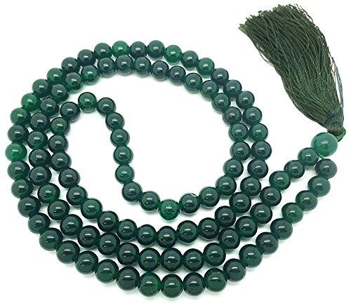 Verde jade japa mala de 108 cuentas de cada una de 6 mm de ancho