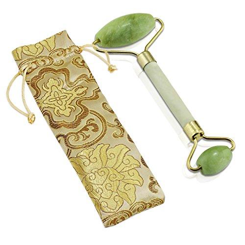 Rodillo anti-envejecimiento del masaje de la piedra del jade cuerpo natural de la cara rodillo sano de la terapia fría