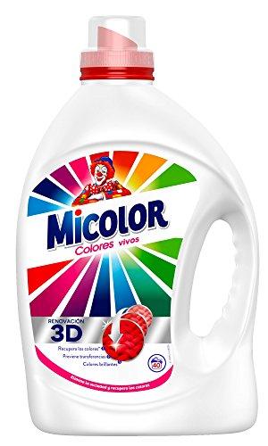 Detergente líquido colores vivos