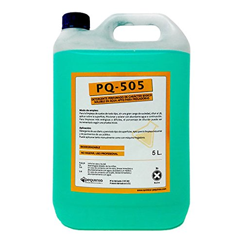 Detergente perfumado concentrado de caracter básico soluble en agua apto para fregadoras