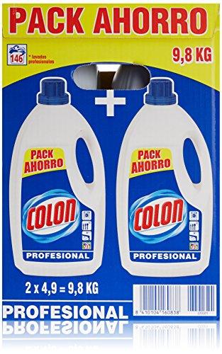 Detergente para lavadora de ropa formato liquido azul profesional