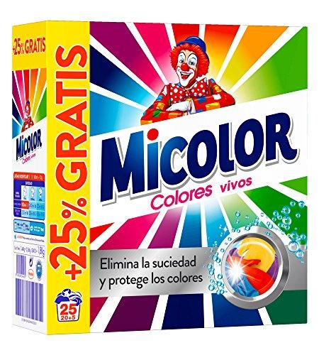 Detergente en polvo colores vivos