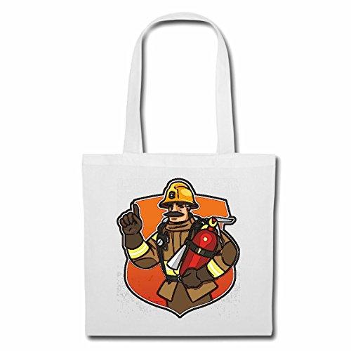 Bolsillo bolso bolsa «bombero con protección del casco y extintores de fuego bombero voluntario de la empresa apt bombero profesional insert cabeza de bomberos de fuego» bolsa de deporte bolsas de bla