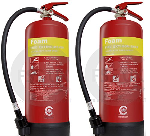 2 extintores de incendios de 6 litros