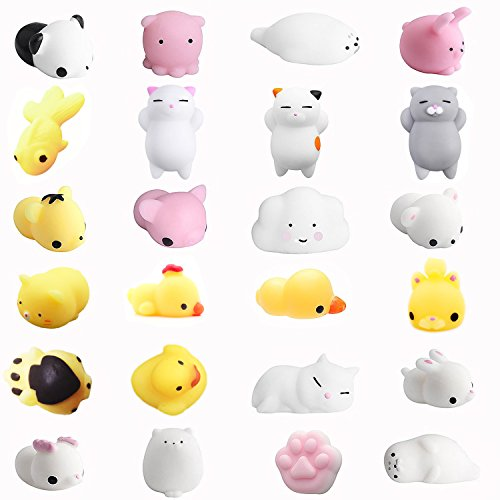 24pcs squishys kawaii squishy juguetes squishies animales slow rrising squeeze kids toy gift