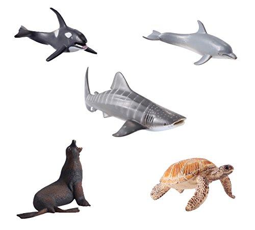 5 piezas figuras grandes animales mar océano estatuas plásticas 6 pulgadas juguete educativo preescolar para niños