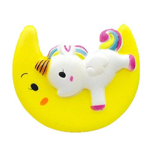 8 cm unicornio ballena de dibujos animados perfumado encanto blando lento aumento de apretar juguete encanto