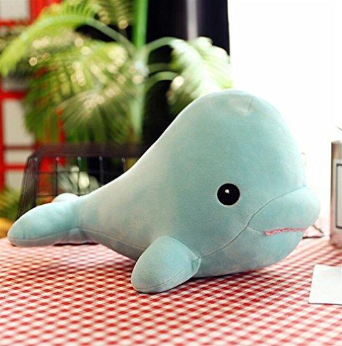 Lindo y suave 25 cm de peluche de ballena juguete de peluche muñeca de peluche lindo colgante colección de juguetes de regalo de cumpleaños para niños niñas