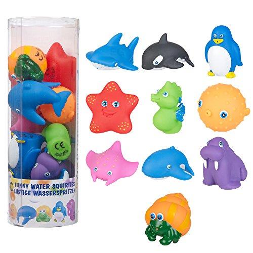 Nuevo 10 divertido de colores baño lanzador de agua animales juguetes inc
