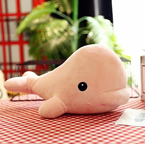 Juguete de peluche lindo y suave 25 cm de peluche de ballena de peluche de juguete muñeca de peluche lindo colgante de juguetes colección de regalo de cumpleaños para niños niñas
