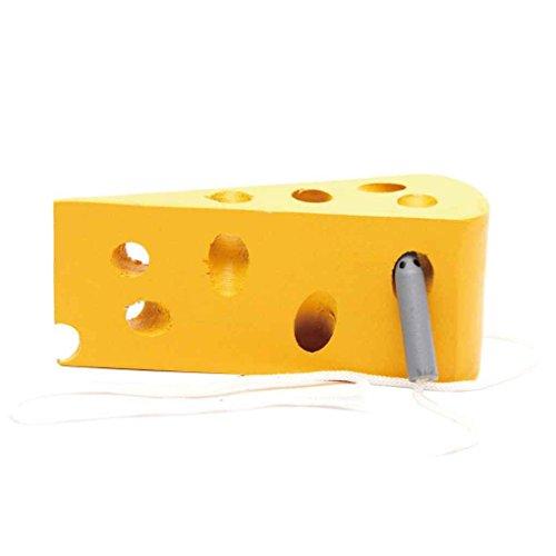 Tema del ratón del queso oruga come sandía de madera juguetes del bebé para el bebé infantil los primeros juguetes educativos