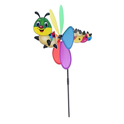 Nuevo animal 3d molino de viento wind rotator jardín patio decoración niños juguete