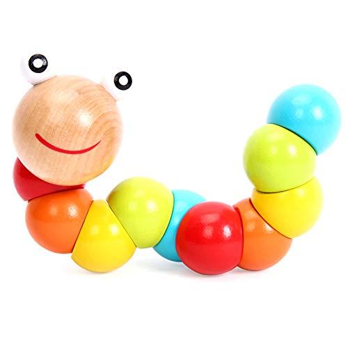 De colores para niños juguetes de madera linda torsión oruga rompecabezas de juguete para niños educación temprana aprendizaje