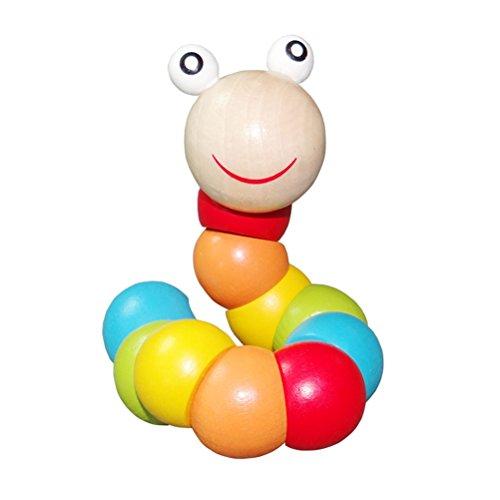 Juguete de gusano educativos juguetes de madera oruga juguete multicolor