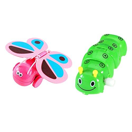 Juguetes de cuerda enrollo forma oruga y mariposa para niños