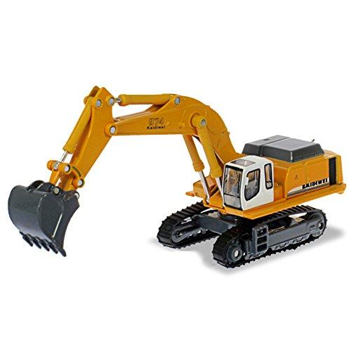 Fei excavadora de orugas excavadora juguete coche 1:87 aleación de ingeniería modelo de metal excavadora coche temprano educación