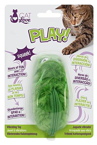Vibración oruga juguete para gatos