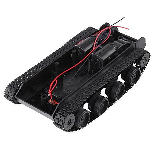 Ligero shock chasis de tanque chasis para vehículos de oruga diy kit con 130 motor 3v-7v para robot wifi vehículo grabación video