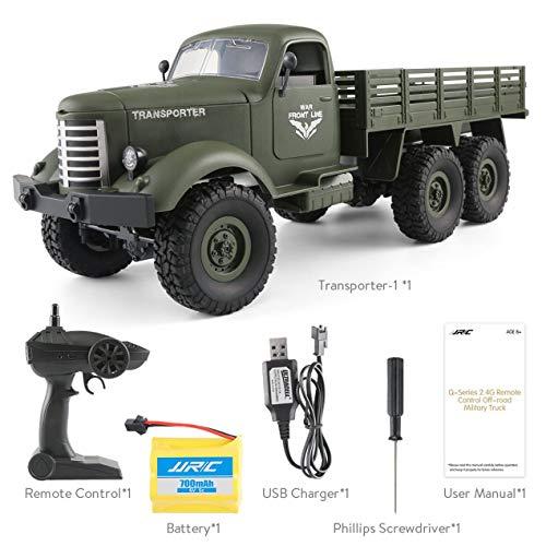 Jjrc q60 2.4g rc 1:16 máquina 6wd orugas off-road militar rc camiones de juguete para niños
