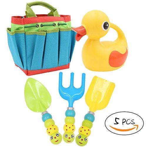 Lindo juego de herramientas de jardinería para niños