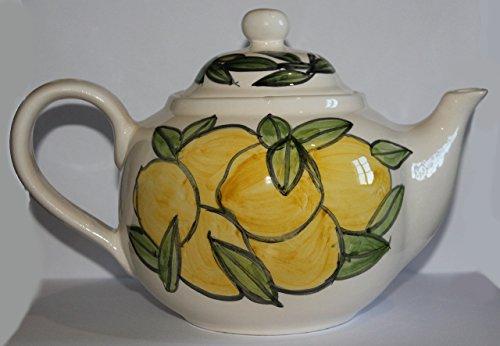 Tetera con limones-tetera de cerámica decorada a mano