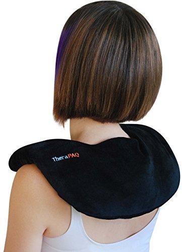 Almohadilla térmica que alivia el dolor de hombros y cuello de therapaq -para la terapia térmica humectante natural o como pack de frío