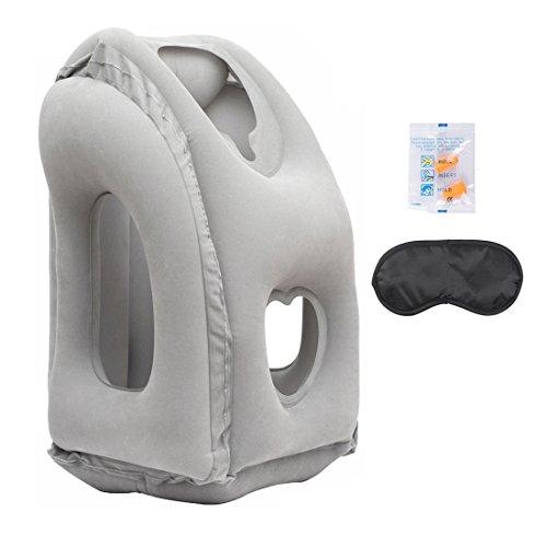 Almohadas de viaje airgoods multi-funcional almohada inflable almohadilla de siesta cómodo cojín de viaje para aviones