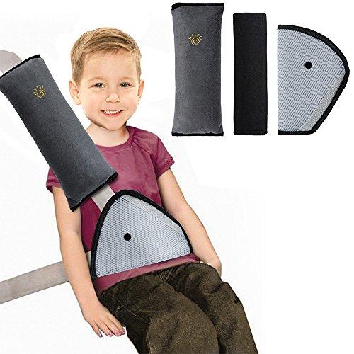 3 packs almohadillas para cinturón cojín de almohadillas protectores cobertores desmontable y lavable cojín de viaje fundas de cinturón cómodos cinturones de seguridad fundas de almohadillas protectoras de hombro