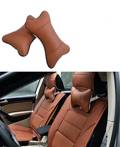 2 piezas de almohadillas de cuello de coche apoyabrazos respirable cuello soporte de almohada ergonómico almohada de cuello cómodo coche de viaje almohada