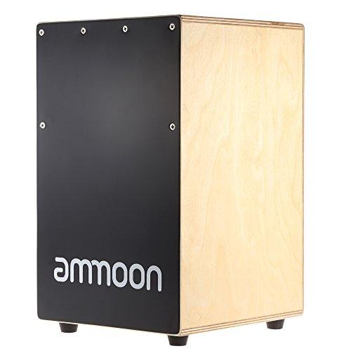 Cajón de madera tambor de mano caja tambor de los niños instrumento de percusión con patas de goma picaduras 23 * 24 * 37cm