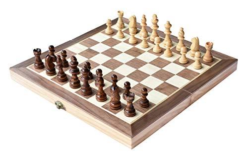 Ajedrez 12 «x12 pulgadas juego de tablero de madera juego de ajedrez magnético hecho a mano piezas de ajedrez viajar juegos de mesa internacionales