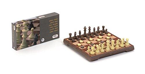 Ajedrez/damas magnetico con piezas 24×24