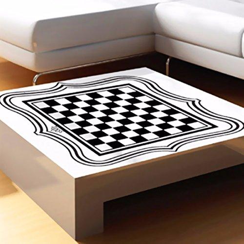 Internacional ajedrez tablero té mesa escritorio vinilo pegatina hogar barra de cristal decoración
