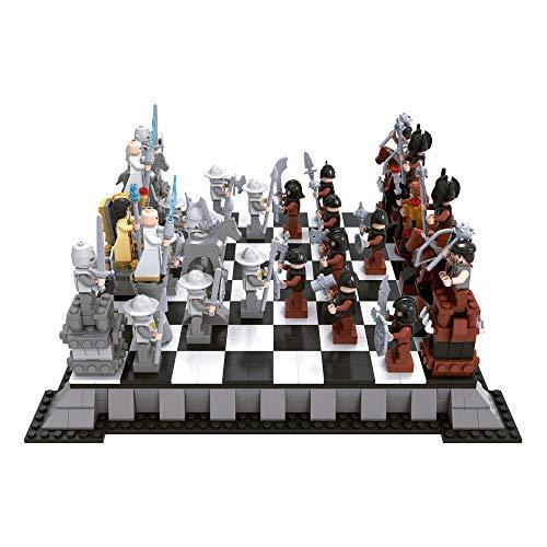 Juego de bloques construcción ajedrez piratas y caballeros